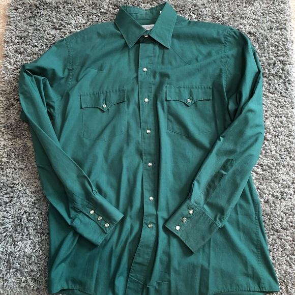 19dc284007 Men's Green Button-Down Western Shirt. M_5b6325b134e48a1e4b5c87fd